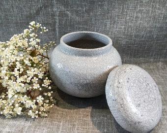 Spice firing Raku stoneware pot