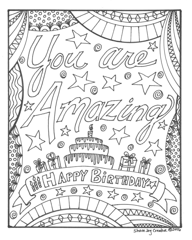 Herzlichen Glückwunsch Zum Geburtstag Ausmalbilder : Gl Cklich Geburtstag Malvorlagen Sie Sind Erstaunlich