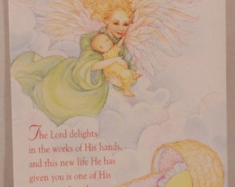 NEW! Religious New Child by DaySpring . 1 Single Card with Envelope.