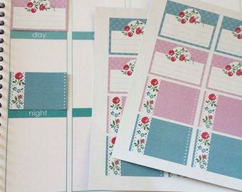 Planner Stickers 16 Half Box Stickers Fits Erin Condren Planner