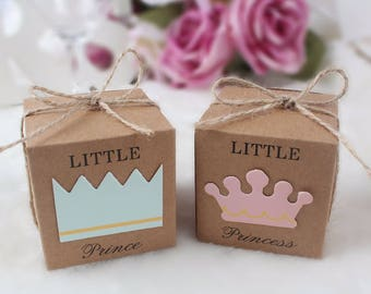 Baby Shower Favors, Gender Reveal Party - Little Prince Baby Shower, Favor Prince - Princess Baby Shower, Princess Party Favor Box Princess