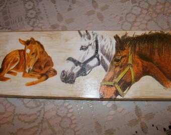 """The antique decorative """"horse"""" for the binder case"""