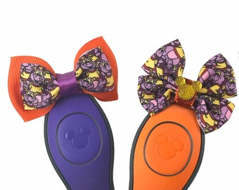 """Figment Magic Band Bow or Apple Watch Bow, 2"""" Mini Hair Bow, Planner Clip Bow - Disney Parks Collection"""