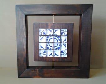 Wall art glass and wood