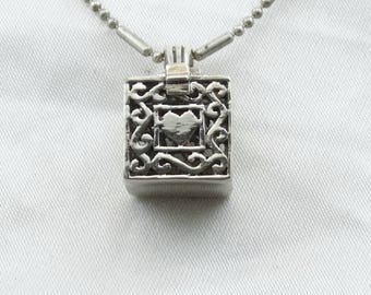 """Love Laugh Live Sterling Silver Keepsake Box Pendant. 26"""" Sterling Silver Chain Included!   #LLLBOX-SPC2"""