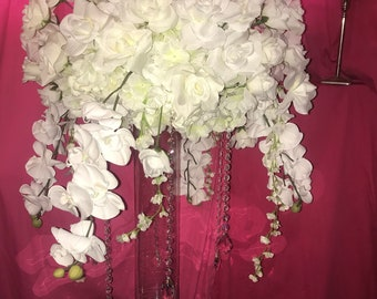 Kissing Orchids Pomander Ball Centerpiece