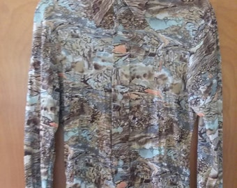 Vintage Guinessa Western Disco Pointed Collar Shirt Polyester