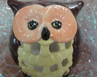 Owl Votive Candle Holder