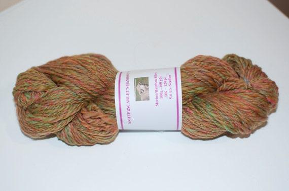 Merino/Bamboo Handspun Yarn in Autumn Colours 100g/160yds
