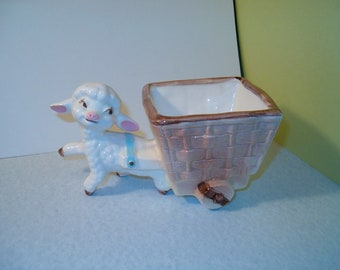 Ceramic Baby Lamb Planter