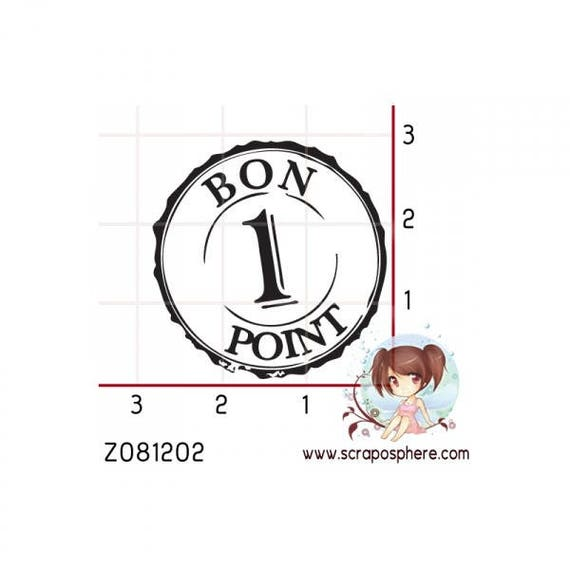 """SCR39 pattern """"point 1"""" rubber stamp"""