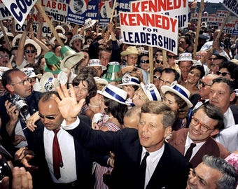 John F. Kennedy at the 1960 Democratic National Convention - 5X7 or 8X10 Photo (EE-068)