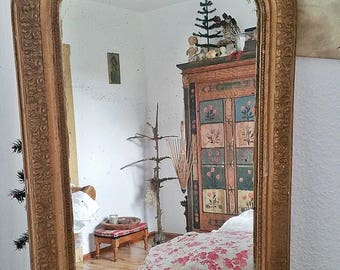 Antique mirror, chimney mirror with a beautiful patina