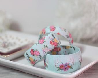 Boho Antler Bracelet - Floral Antler Jewelry - Bohemian Floral Antlers - Floral Antler Bracelet - Boho Antler Bangle Bracelet - Gift for Her