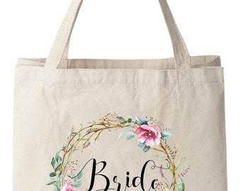 Tote Bags, Bride Bags, Bridal Bag, Wedding Tote Bag, Bridal Tote Bag, Bride Gift, Wedding Bag, Floral Tote Bag, Canvas Tote Bag