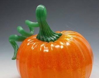 Blown Glass Pumpkin