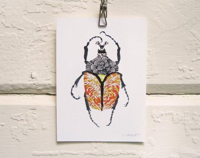 Imperial Orange Beetle Print