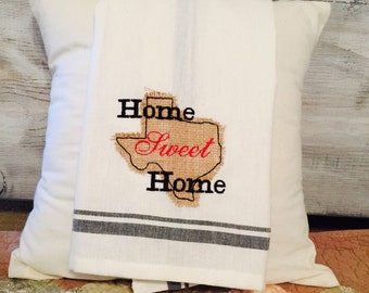 Home Sweet Home Retro Dish Towel
