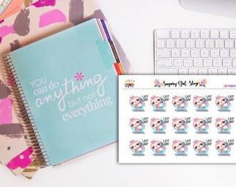 Lazy Day Sloth Planner Sticker Sheet