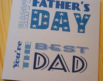 Handmade Happy Father's Day Card - Dad - You're the Best