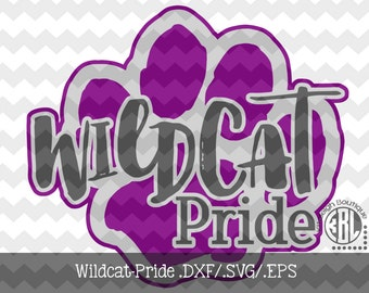 Wildcat Pride Files INSTANT DOWNLOAD in dxf/svg/eps for use with programs such as Silhouette Studio and Cricut Design Space
