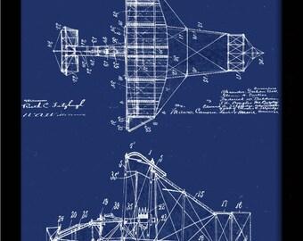 Graham bell etsy alexander graham bell airplane design 1911 patent drawing aircraft bi plane airplane patent art print malvernweather Gallery