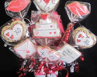 Hugs and Kisses Valentine's Cookies