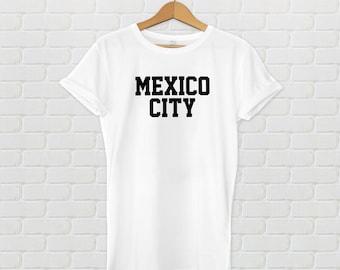 Mexico City Varsity Style T-Shirt - White
