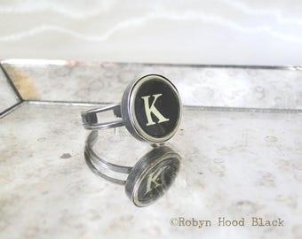 Schreibmaschine Schlüssel Jahrgang Buchstabe K Ring