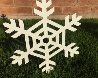 Snowflake - 08 - Metal Yard Art, Christmas, Lawn Decoration, Outdoor Christmas Decoration