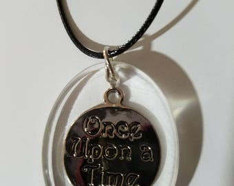 resin necklace inspirational once upon a time happily ever after fairy tales do come true fun unique