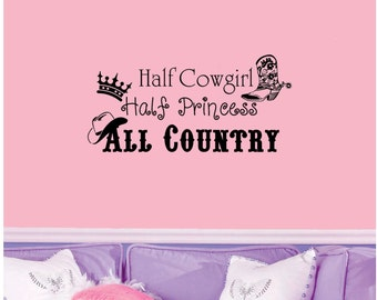 Half Cowgirl Half Princess All Country Wall Decal ...  sc 1 st  Etsy & Steelers Decal 6x24 mancave wall decal