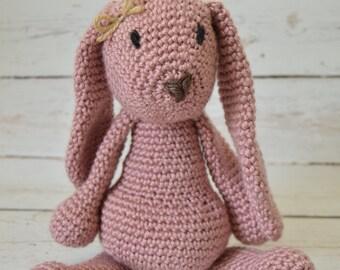 Crochet bunny, crochet baby toy, stuffed rabbit, crochet toy, crochet rabbit, baby toy, stuffed animal, easter bunny, photo prop