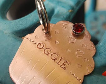 Cupcake Pet tag-Pet id tag-Personalized pet tag-Custom pet tag-Dog tag-Cupcake tag-Cupcake Keychain-Baker gift-Fur parent gift-Cupcake maker