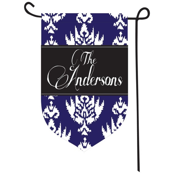 Personalized Ikat Garden Flag