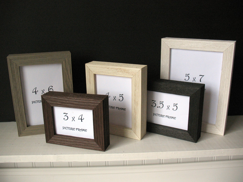 DEEP BARNWOOD Frame 3x4 3x5 3.5x5 4x5 4x6 5x7 Self Stand Black White ...
