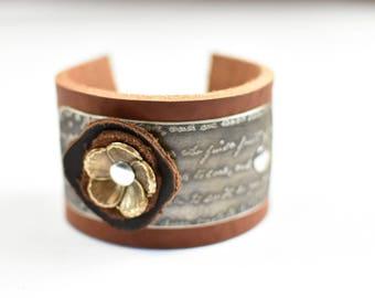 Artisan Leather Cuff Bracelet