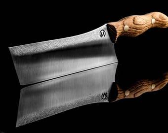 Handmade Nakiri kitchen knife made by mknives