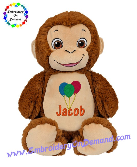 Cubbies bugaloo the monkey baby gift personalized teddy negle Gallery