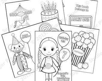Circus coloring book   Etsy