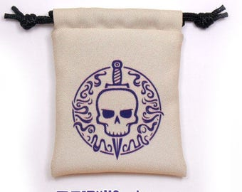 Rogue Fantasy RPG Mini Drawstring Dice Pouch, Colour Symbol