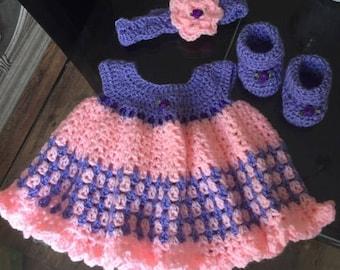 crochet baby girl dresses handmade