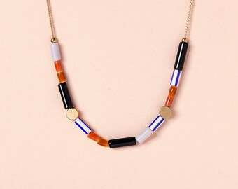 Necklace by Depeapa - GUATEQUE - Jarana Collection - Accesories, jewelry, geometric necklaces
