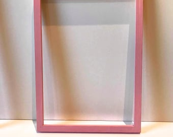 A4 Pink wooden frame