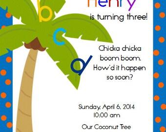 ABC  Boy's Printable Invitation PDF