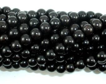 Black Sandalwood Beads, 6mm(6.3mm) Round, 25 Inch, Full strand, Approx 108 Beads, Mala Beads (011732001)