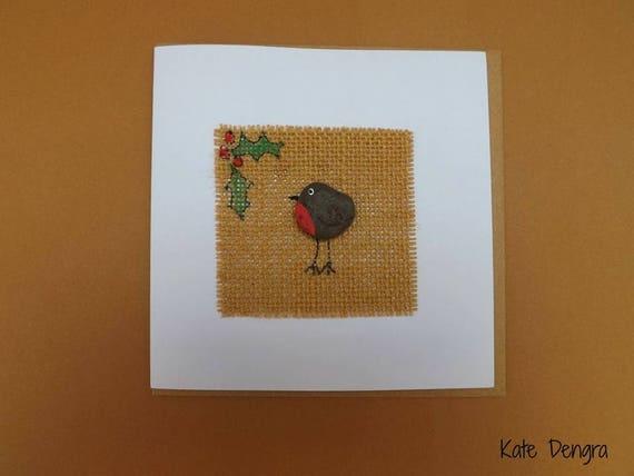 Pebble Robin Greetings Card
