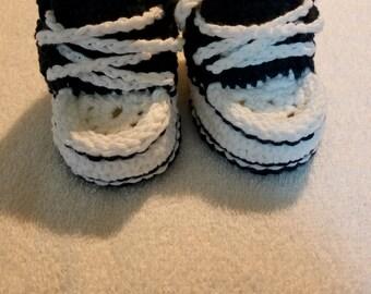 Crochet baby boy shoe