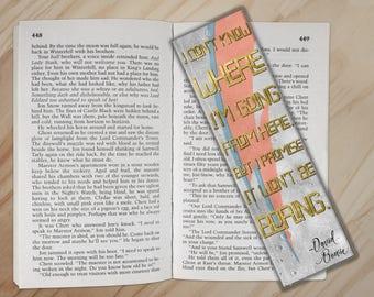 David Bowie Bookmark - Aladdin Sane Lightning Bolt Quote Bookmark