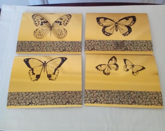 Embellished Butterfly Greeting Cards - Set of 4  Item 2018-87